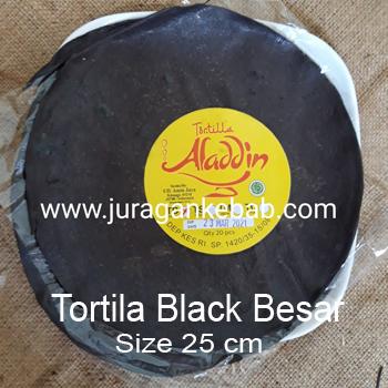 Tortilla Hitam Besar Size 25 cm